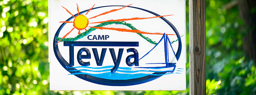 camp tevya sign